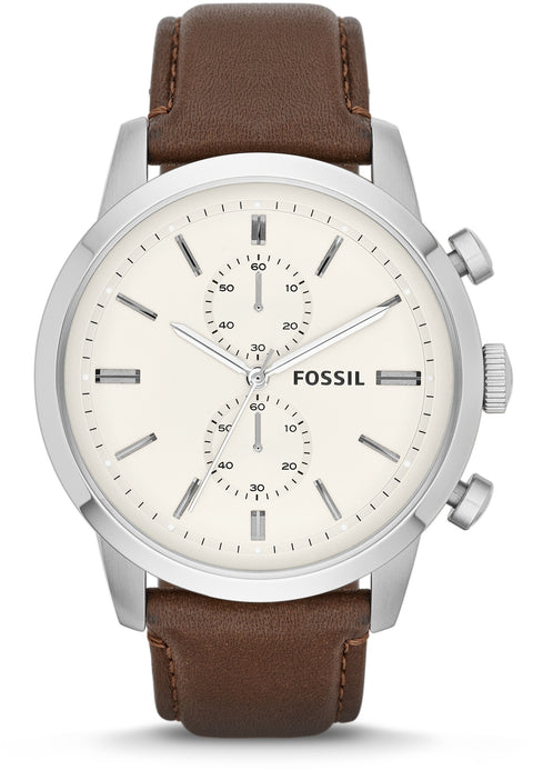 Townsman Chronograph Cream Dial Brown Leather