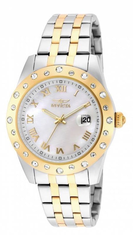 Angel Women's Stainless Steel Mother of Pearl Dial