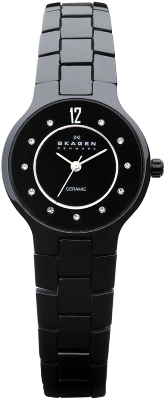 572SBXBC Ceramic Black Dial Ceramic Strap Women's Watch