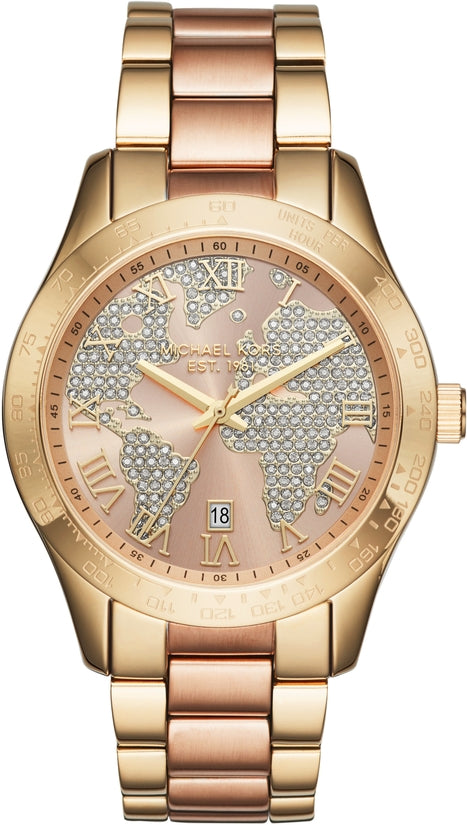 Layton Gold and Rose Gold Tone Stainless Steel