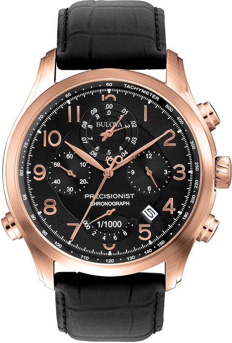 Precisionist Chronograph Black Leather