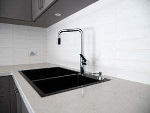 Black (Graphite) Kitchen Sink - Double Bowl