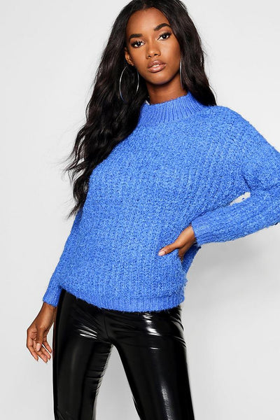 Boucle Feather Knit Chenille Jumper
