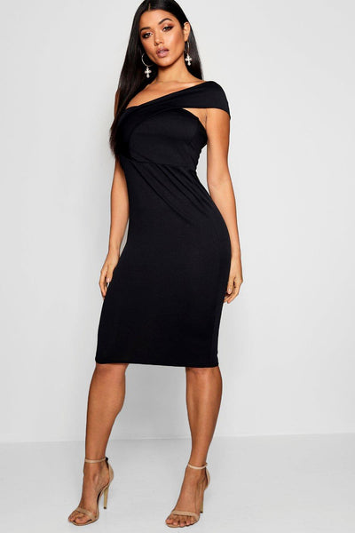One Shoulder Midi Dress