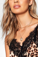 Cross And Sovereign Layered Choker Necklace