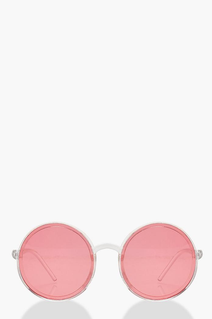 Coloured Lens Round Sunglasses