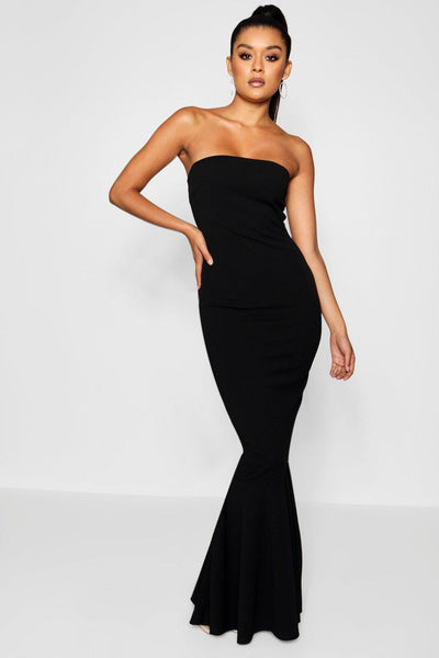 Bandeau Fishtail Maxi Dress