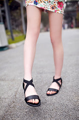 Flats Heel Genuine Leather Sandals
