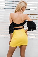 Sexy Short Mini Asymmetrical Skirt
