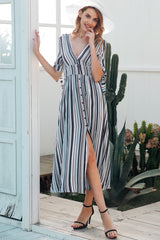 Stripe long dress