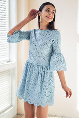 Cotton lace embroidery dress