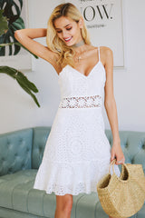 Cotton embroidery party dress