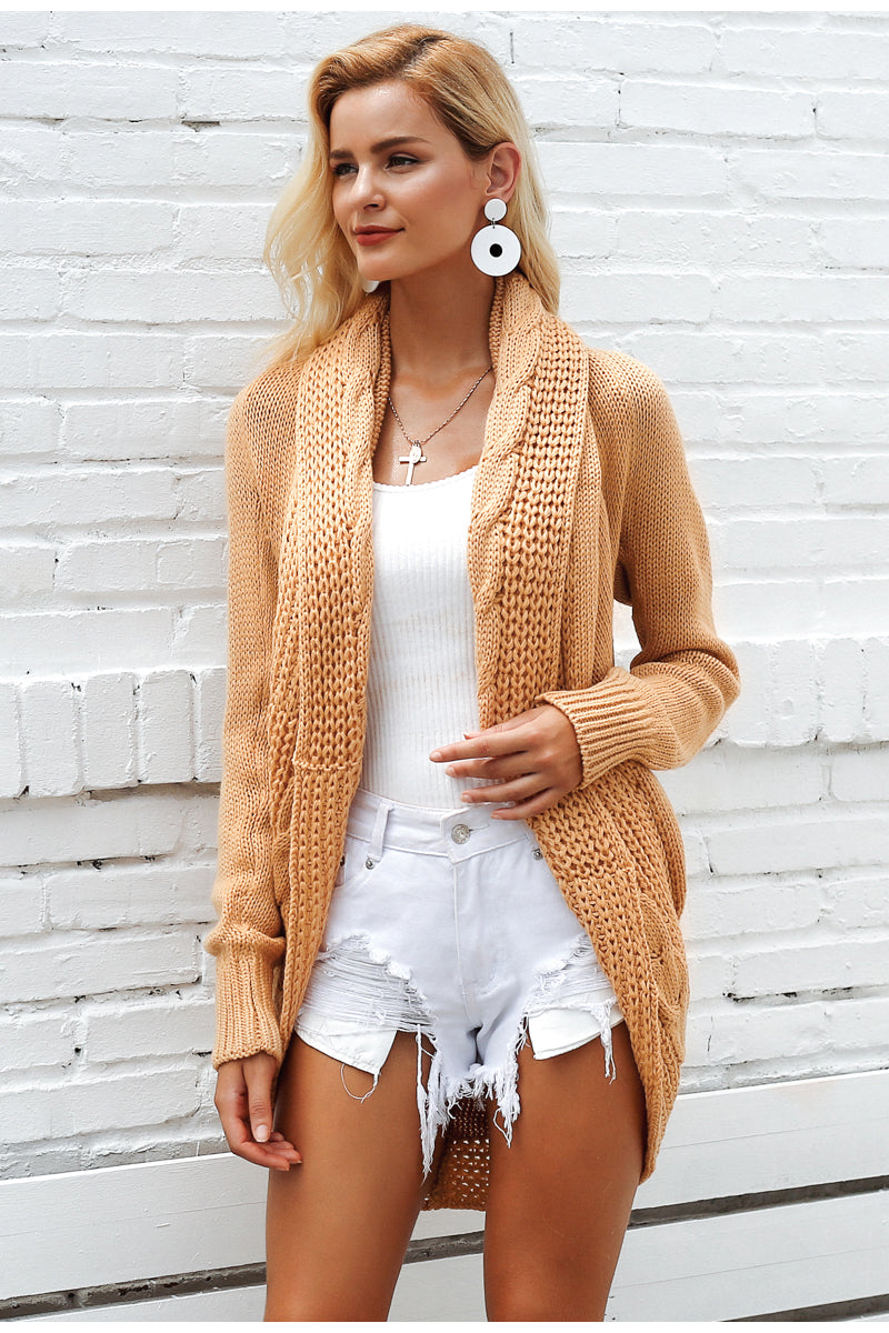 Shrug knitted sweater cardigan