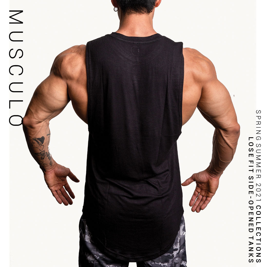 Musculo side-opened gym tanks // SS 2018