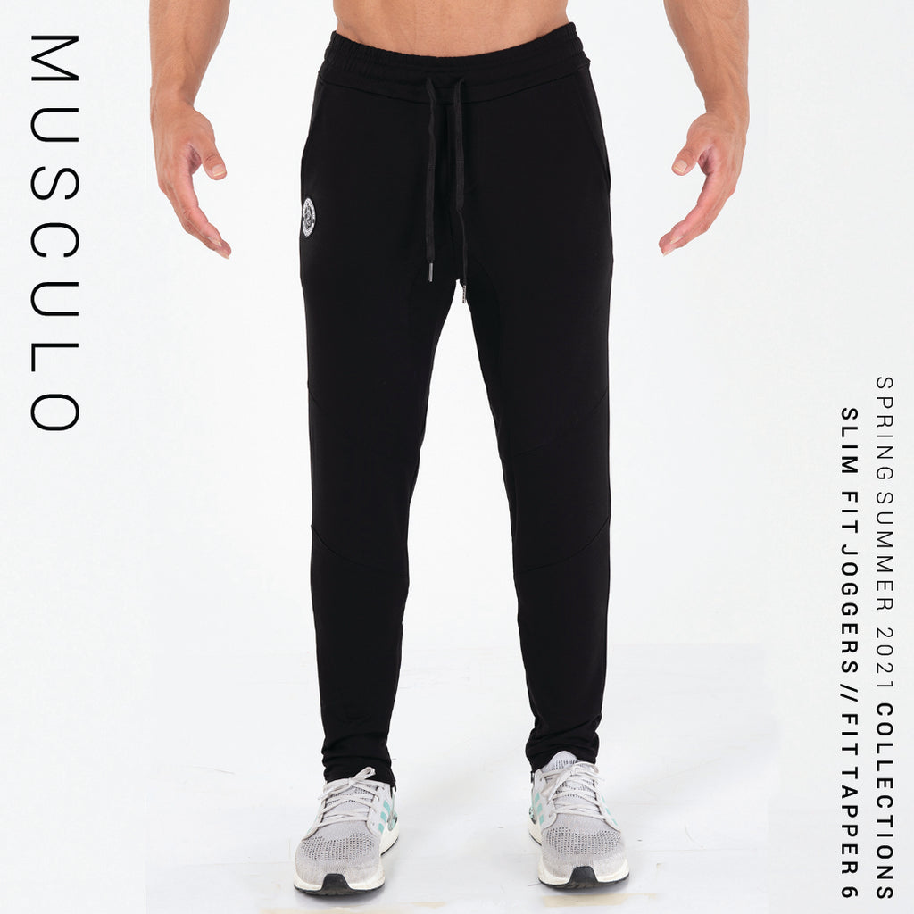 Musculo Slim fit Joggers // Fit Tapper 6 - Black