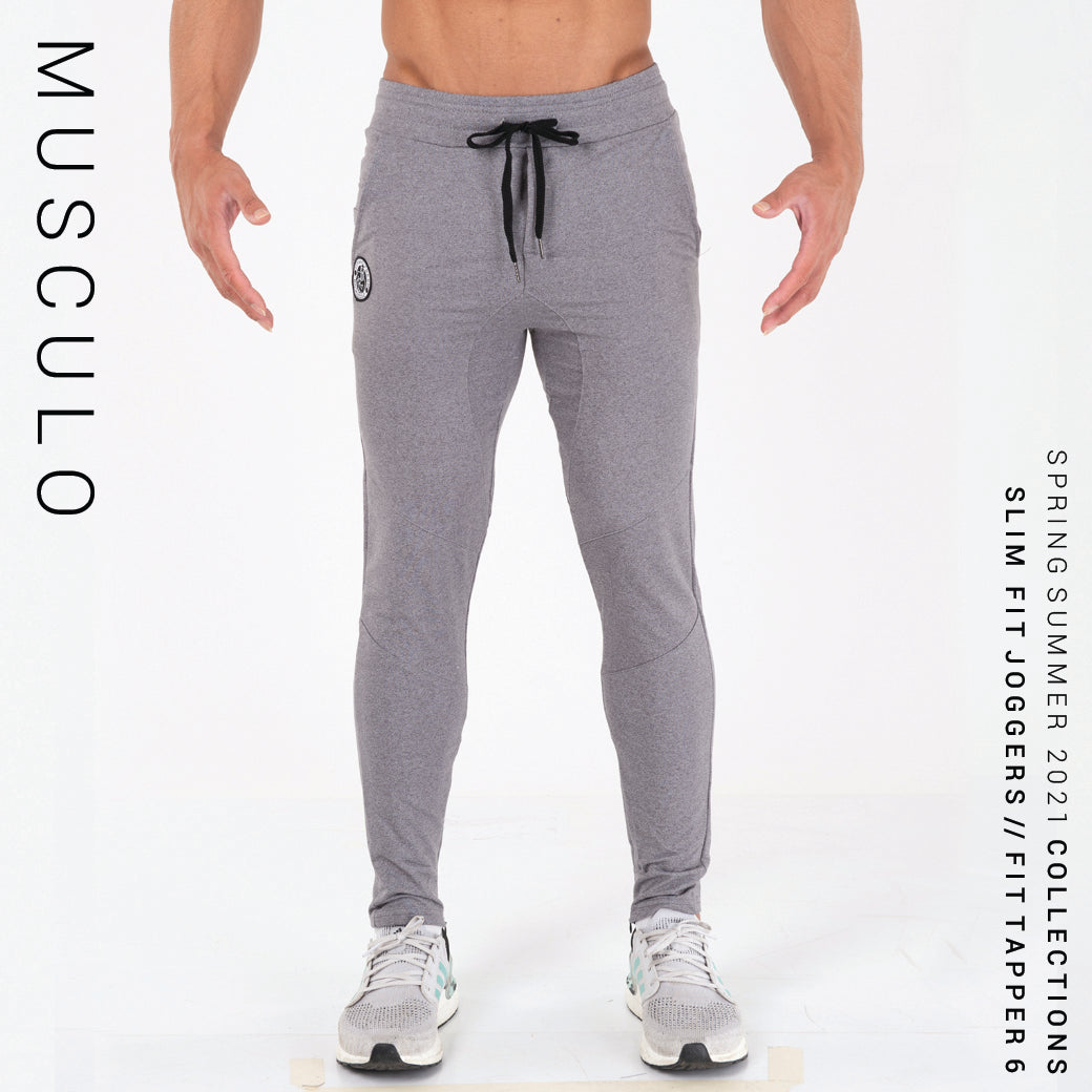 Musculo Slim fit Joggers // Fit Tapper 6 - Gray