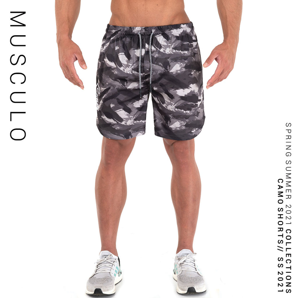 Musculo Fit camo shorts // SS 2021 - Black