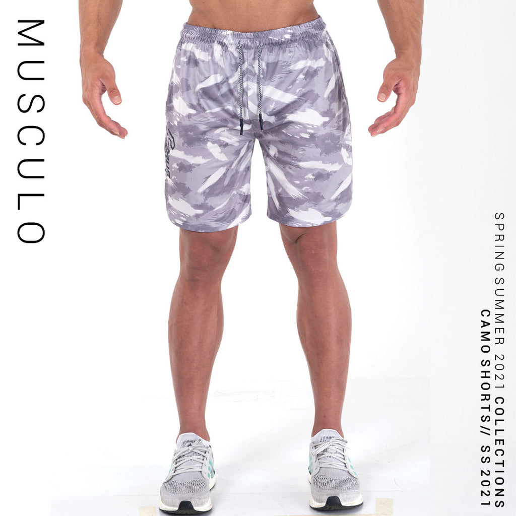 Musculo Fit camo shorts // SS 2021 - White