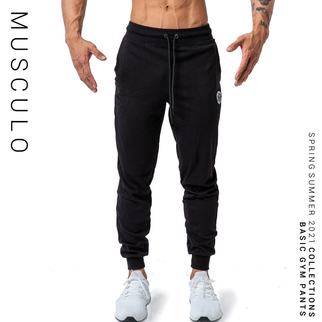 Musculo Basic gym pants // Fit tapper - Black