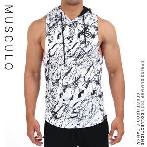 Musculo Sleeveless hoodie // SS 2019 - Marble