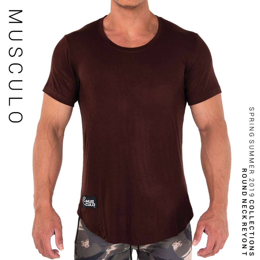 Musculo Round neck reyon T // SS2019 - Brown