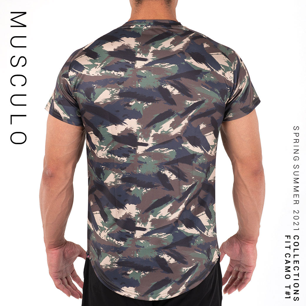 Musculo Fit camo sport T shirt // SS2021 - Green