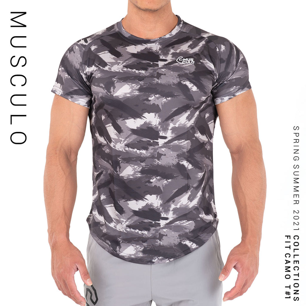 Musculo Fit camo sport T shirt // SS2021 - Black