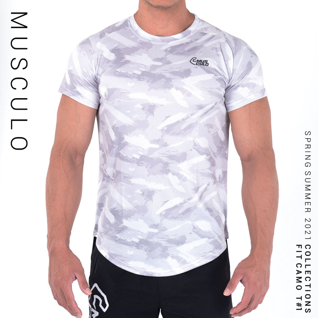 Musculo Fit camo sport T shirt // SS2021 - Gray
