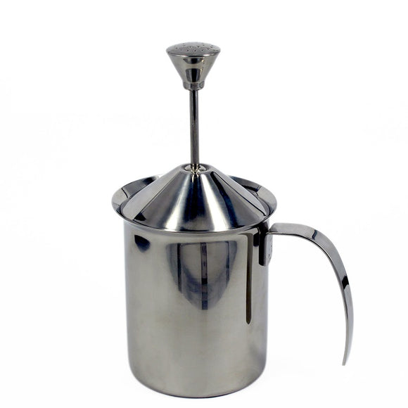 Milk Frother 400ml Stainless Steel Double Mesh with spring
