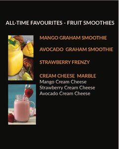 Fruit Smoothies (Menu Item not for online sale)