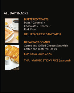 All Day Snacks (MENU ITEM NOT FOR SALE)