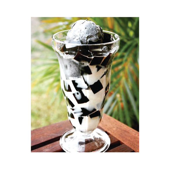 GRASS JELLY WITH ICE CREAM
