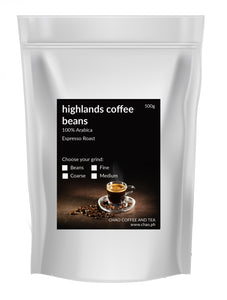 HIGHLANDS COFFEE BEANS (100% Arabica) - ESPRESSO ROAST