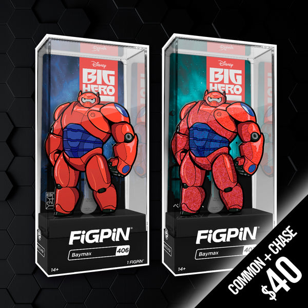 Pre-order: FiGPiN - Big Hero 6: Baymax #406 & #407 (Chase + Common)