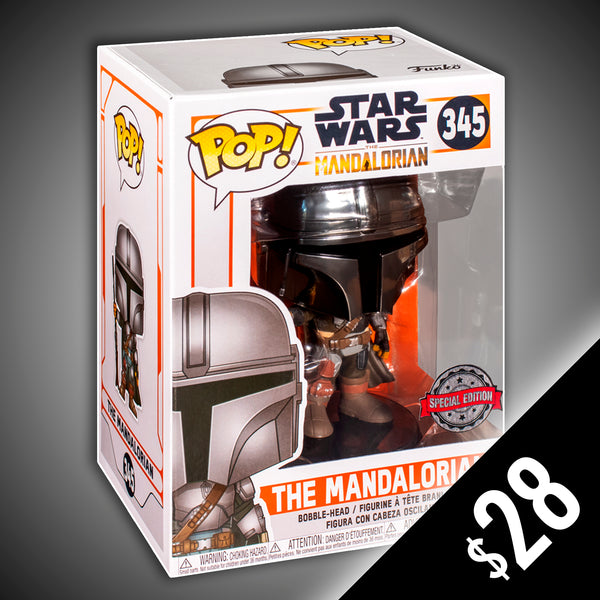Funko Pop! Star Wars: The Mandalorian (Chrome) #345