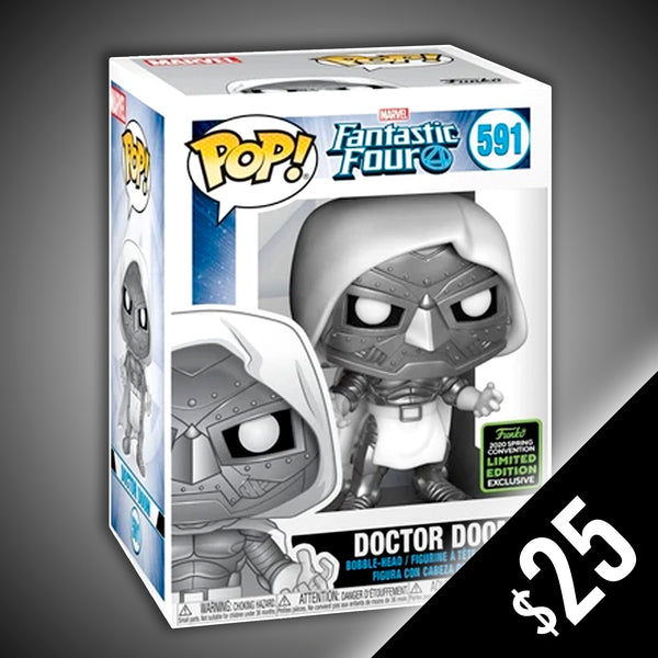 Funko Pop! Marvel: Fantastic Four - Doctor Doom - God Emperor (ECCC Shared Sticker) #591