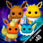 Funko Pop! Pokemon - Wave 4 - (Set of 4 Commons)