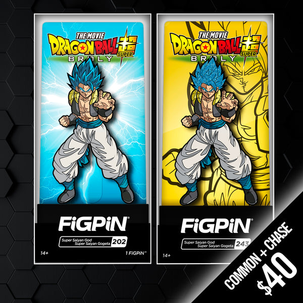 FiGPiN - Dragon Ball Super Broly Movie: SSGSS Gogeta #202 & #243 (Chase + Common)