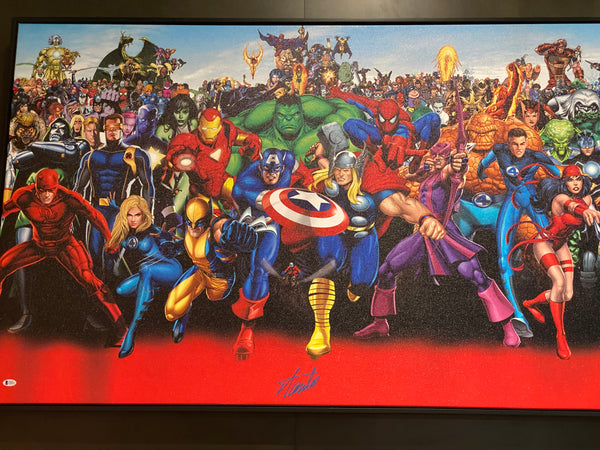 Marvel Verse Large Canvas. Signed by Stan Lee