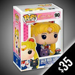 Funko Pop! Sailor Moon: Sailor Moon w/Moon Stick & Luna #90