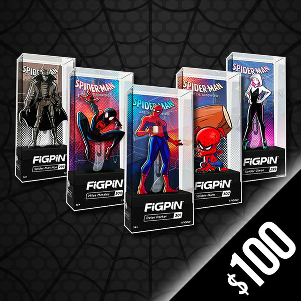 Into the Spider-Verse 5 piece set (Silver Plated)