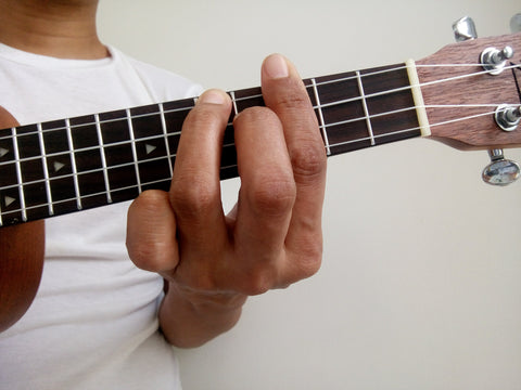 A shape chord inversion for C Major