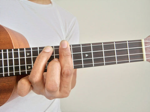 finger position of F shape on C chord inversion