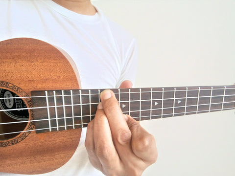 Finger position D shape on C chord inversion