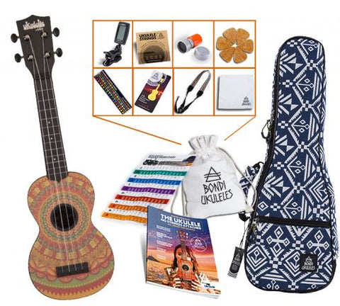 Kala Ukadelic Series Ukulele Tribal Bundle