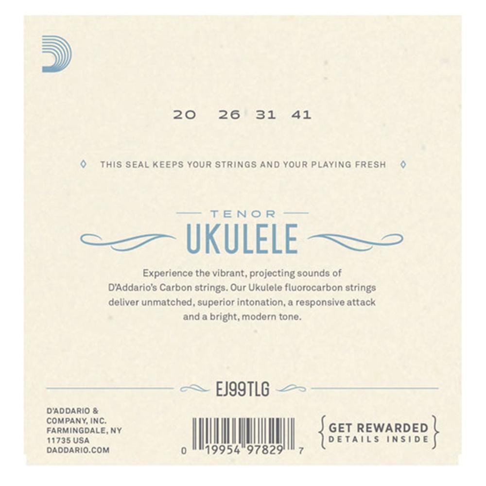 D'Addario Fluorocarbon Ukulele Strings - Tenor Low G