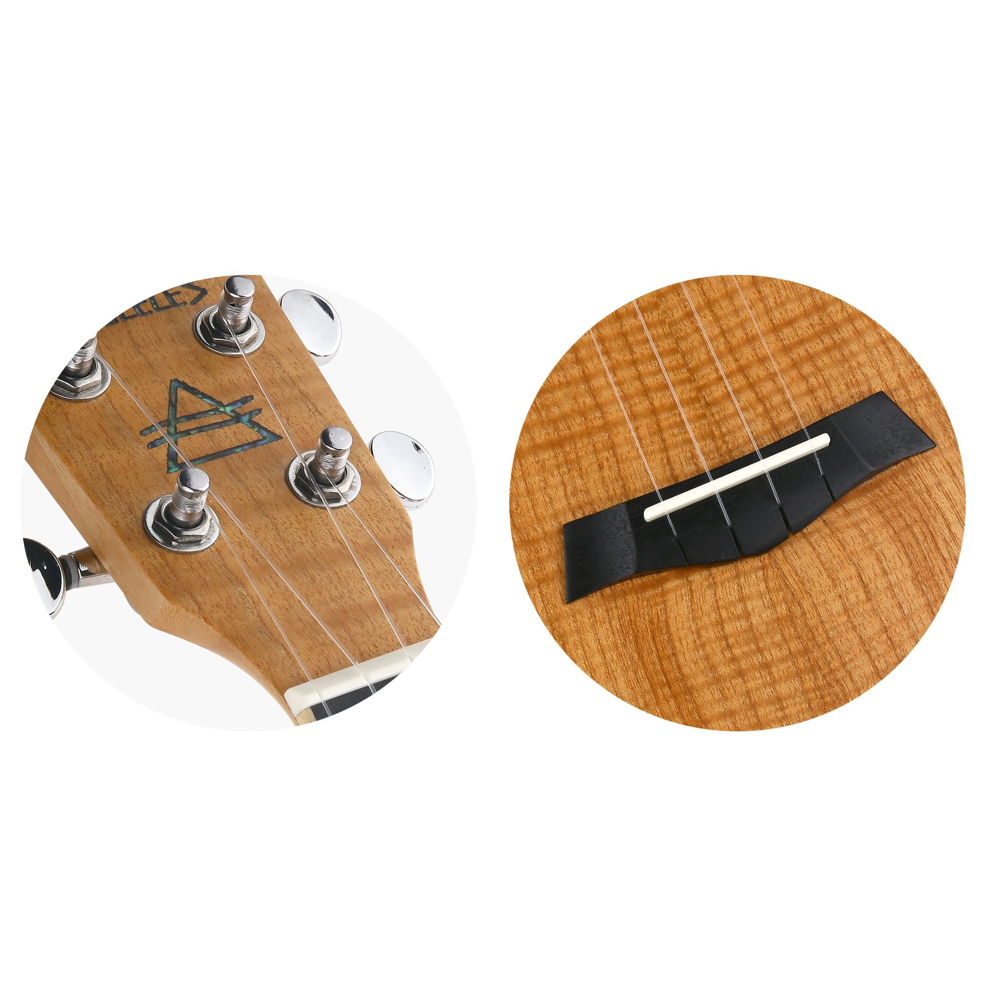 Bondi Tiger Oak Baritone Ukulele Bundle