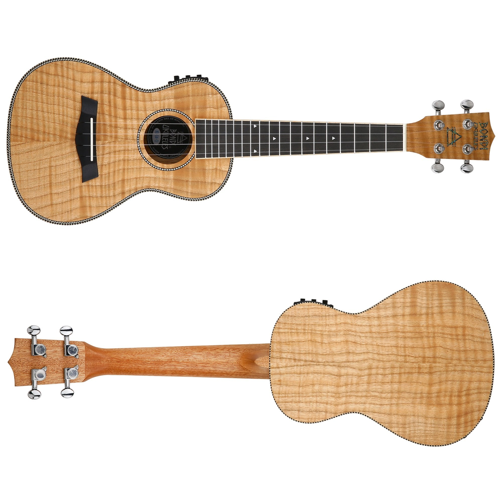 Bondi Tiger Oak Concert Electric Ukulele Bundle