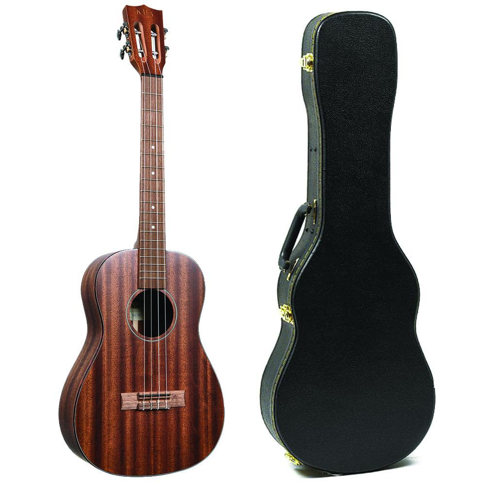 Kala All Solid Mahogany Baritone Ukulele Bundle