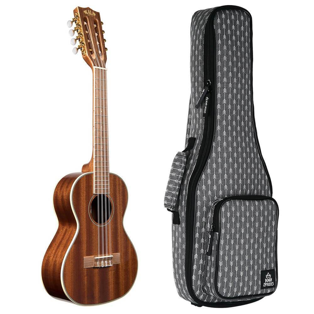 Kala Gloss Mahogany 8-String Tenor Ukulele Bundle